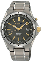 Seiko Ska495p1 Kinetic Date Bracelet Strap Watch, Matte Silver/grey