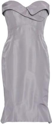 Zac Posen Strapless Flared Silk-faille Dress