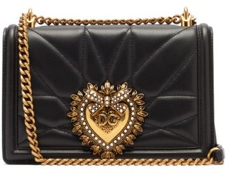 Dolce & Gabbana Devotion Quilted Leather Cross-body Bag - Womens - Black