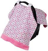 Itzy Ritzy IR-CANM2 Cozy Happens Infant Car Seat Canopy-Muslin, Chev-Rock Pink