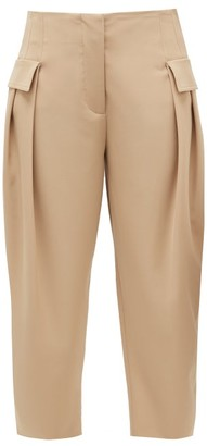 Stella McCartney Cropped Wool-blend Twill Trousers - Beige