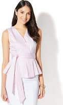 New York & Co. 7th Avenue - Peplum Shirt - Gingham - Tall