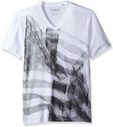 GUESS Men's X Ray Flag V-Neck T-Shirt