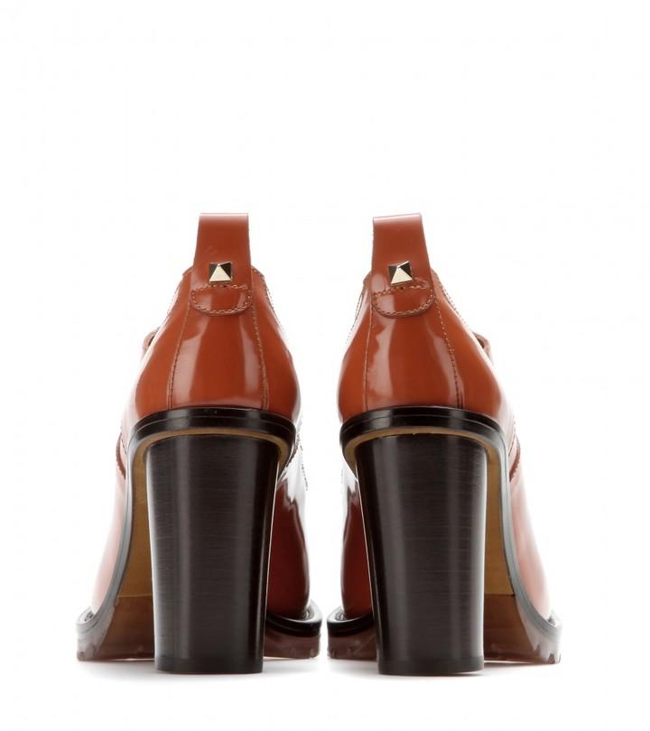 Valentino Leather Derby pumps