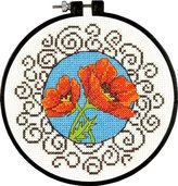 Dimensions Poppies Learn-a-Craft Counted X Stitch, White
