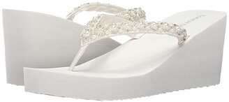 Touch Ups Shelly (White Satin) Women's Shoes