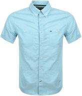 Tommy Hilfiger Short Sleeved Slim Shirt Blue