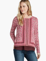 Lucky Brand Floral Printed Sweater