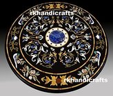 rkhandicrafts Diameter Marble Royal Dining Table Top Semi Precious Stone Inlay