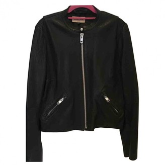 Jaeger Black Leather Jacket for Women