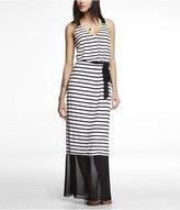 Express Mixed Media V-Neck Maxi Dress