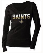 5th & Ocean Women's New Orleans Saints Huddle LE Long Sleeve T-Shirt