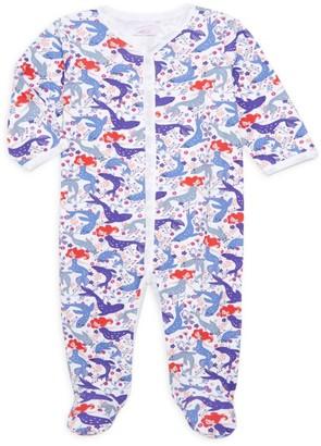 Roller Rabbit Baby Girl's Selkie Pima Cotton Footie Pajamas