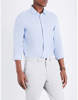 Michael Kors Slim-fit Linen Shirt