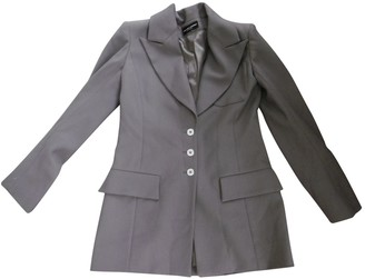 Jean Louis Scherrer Jean-louis Scherrer Grey Wool Jacket for Women Vintage