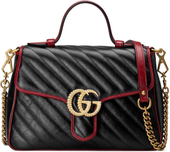 ee23c65069b7 Gucci Marmont Top Handle Bag - ShopStyle