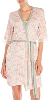Jessica Simpson Two-Piece Floral Print Robe and Nightgown Set