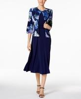 Jessica Howard Petite Empire-Waist Dress & Printed Jacket