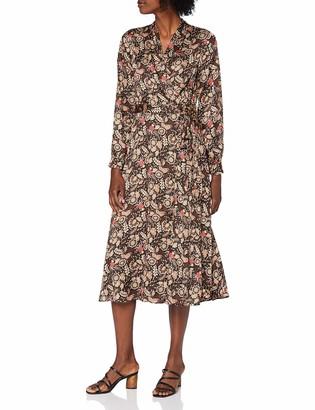 Scotch & Soda Women's Belted Midi Length Wrap Dress Casual