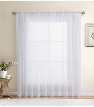 Lumino by Hlc. me Canberra Sheer Voile Rod Pocket Patio Door Panel - 100 W x 84 L
