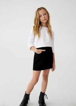 MANGO Medium denim skirt