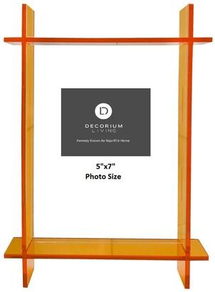 "R16 Home Neon Orange Lucite 5"" x 7"" Frame"