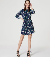 LOFT Valley Floral Shirtdress