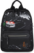 Lanvin Car Print Nylon Backpack