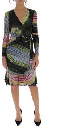 Diane von Furstenberg Graphic Printed Wrap Dreess