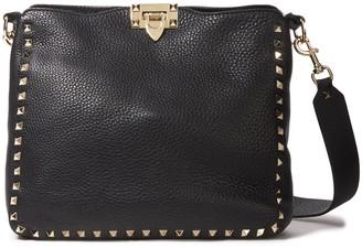 Valentino Rockstud Pebbled-leather Shoulder Bag