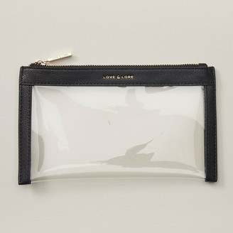 Love & Lore Love And Lore Carry-On Clear Pouch Black