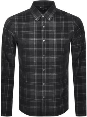 Michael Kors Long Sleeved Slim Fit Shirt Black