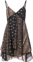Alice + Olivia Alice+Olivia - floral print flared dress - women - Silk/Polyester/Spandex/Elastane - 4