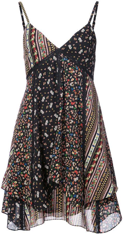 Alice + Olivia Alice+Olivia floral print flared dress
