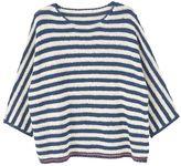 MANGO Striped Open-Work Sweater