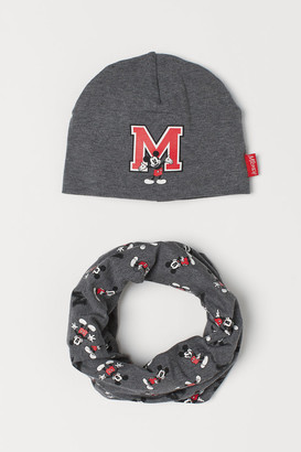 H&M Hat and Tube Scarf - Gray