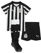 Puma Kids Newcastle United Home Mini Kit 2017 2018 Shirt Shorts Socks V Neck