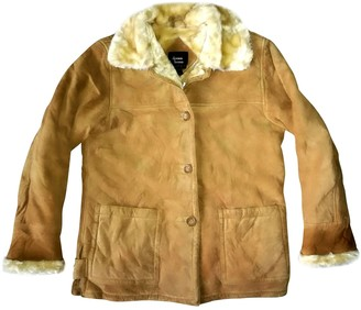 Dennis Basso Beige Leather Leather Jacket for Women
