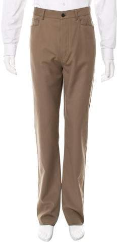 Lanvin Virgin Wool Straight-Leg Pants w/ Tags