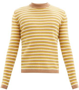 Marni Striped Wool-blend Sweater - Yellow Multi