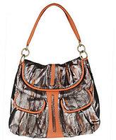Malini Murjani Eel Print with Nappa Leather Trim Shoulder Bag