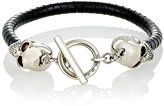 Alexander McQueen Men's Leather & Skull Charm Bracelet-BLACK