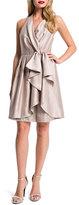 Cynthia Steffe Nettie Shimmer Halter Cascade-Front Dress