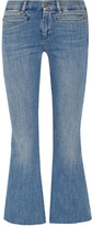 MiH Jeans Marrakech Cropped Mid-rise Flared Jeans - Mid denim
