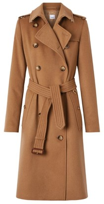 Burberry Cashmere Kensington Trench Coat