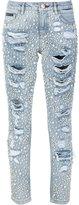 Philipp Plein embellished slim-fit jeans