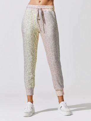 Sundry Leopard Pocket Jogger Pants