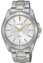 Seiko Men's SGEF83 Stainless Steel Analog with White Dial Watch