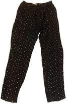 Masscob Black Silk Trousers for Women