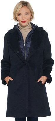 Martha Stewart Snap Front Coat with Removable Bib